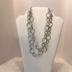 Chicos Silvertone necklace with lobster claw